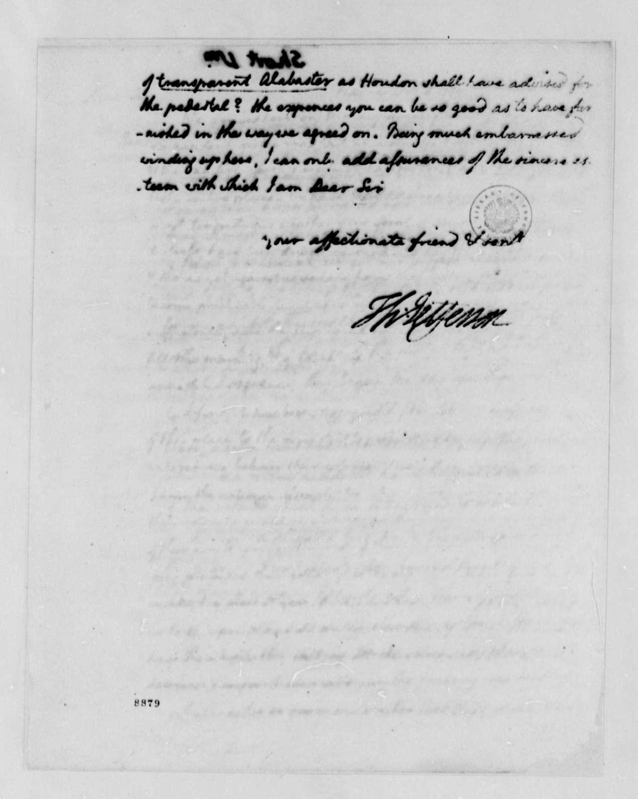 Thomas Jefferson to William Short, October 4, 1789