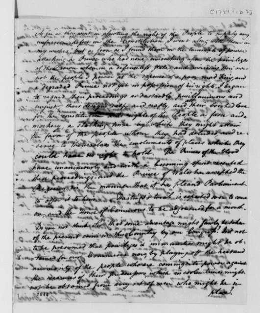 Thomas Lee Shippen to Thomas Jefferson, February 3, 1789