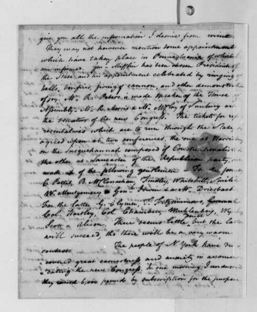 Thomas Lee Shippen to Thomas Jefferson, January 19, 1789