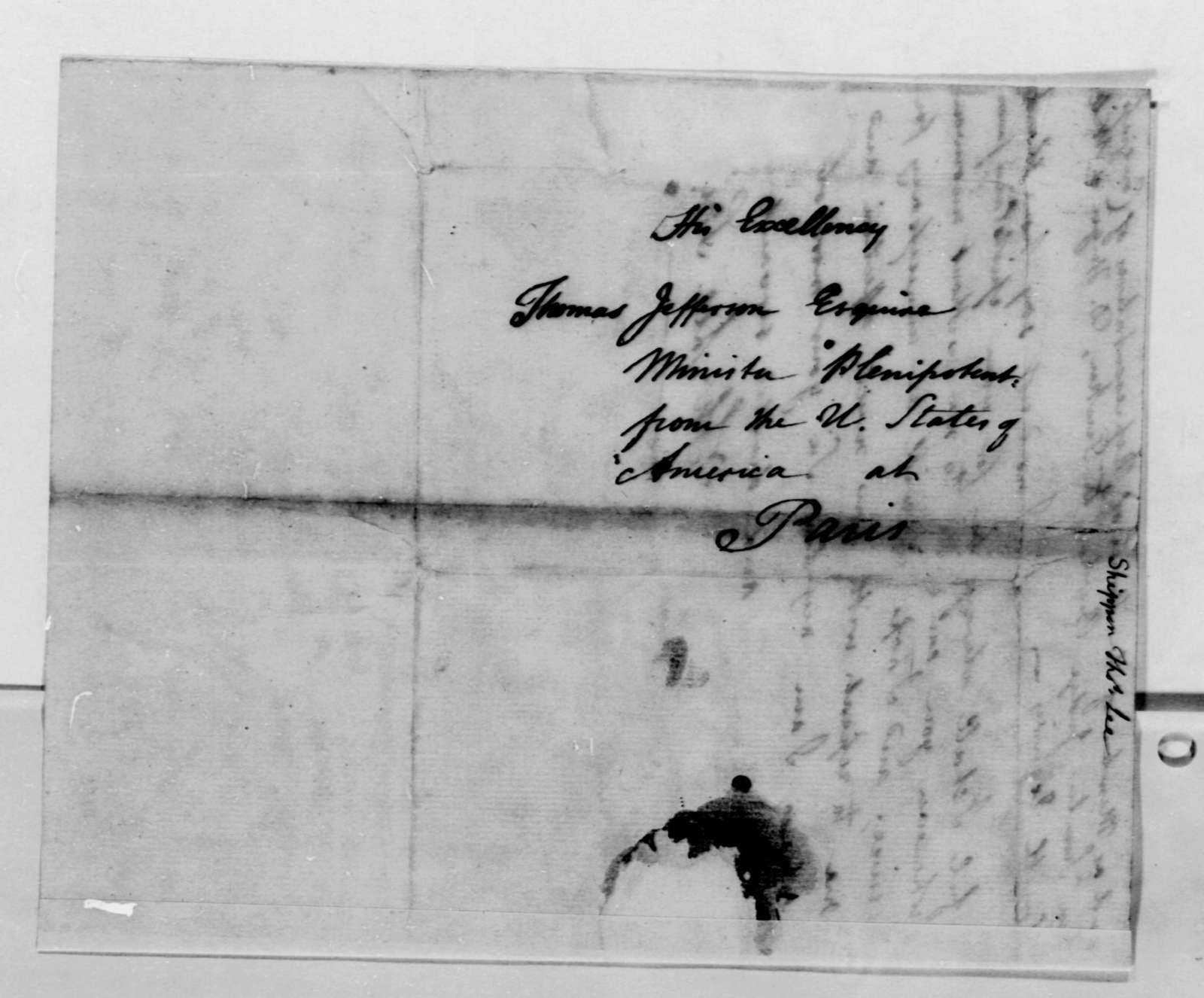 Thomas Lee Shippen to Thomas Jefferson, March 16, 1789