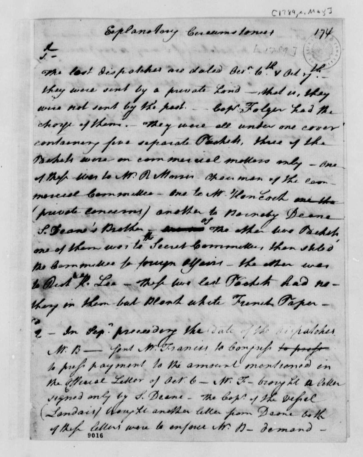 Thomas Paine to Thomas Jefferson, May 1789