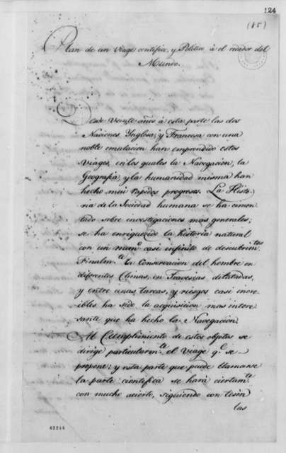 Unknown, 1789-1793, Scientific and Political Trip Around World, in Spanish