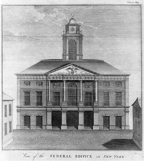 View of the federal ediface in New York
