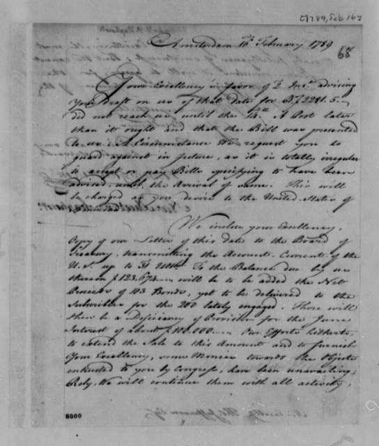 Wilhelm Willink, et al to Thomas Jefferson, February 16, 1789