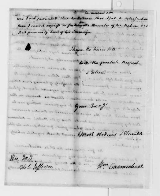 William Carmichael to Thomas Jefferson, August 13, 1789, with Accounts of Sums Advanced by D'Expilly for Americans Held by Algiers,and List of Disbursements to Captives