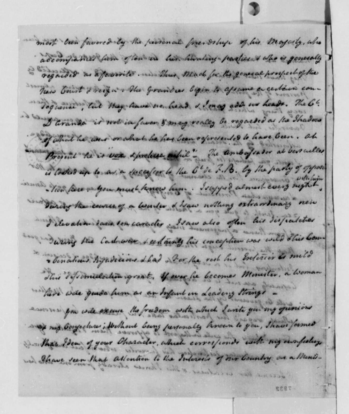 William Carmichael to Thomas Jefferson, January 26, 1789, Partially in Code