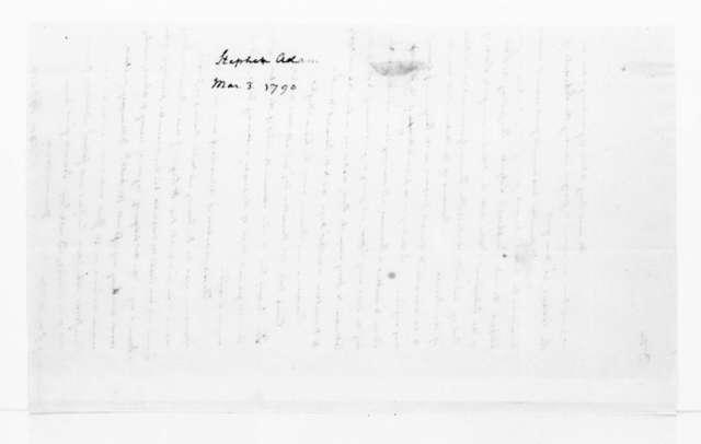 Adam Stephen to James Madison, March 3, 1790.