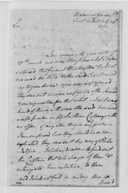 Alexander Anderson to Benjamin Vaughan, July 26, 1790, with Letter from Vaughn to Jefferson, September 21