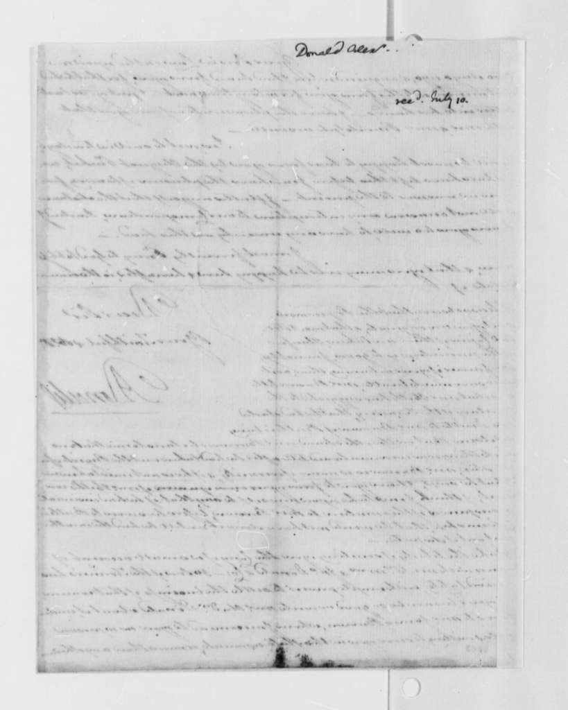 Alexander Donald to Thomas Jefferson, July 2, 1790