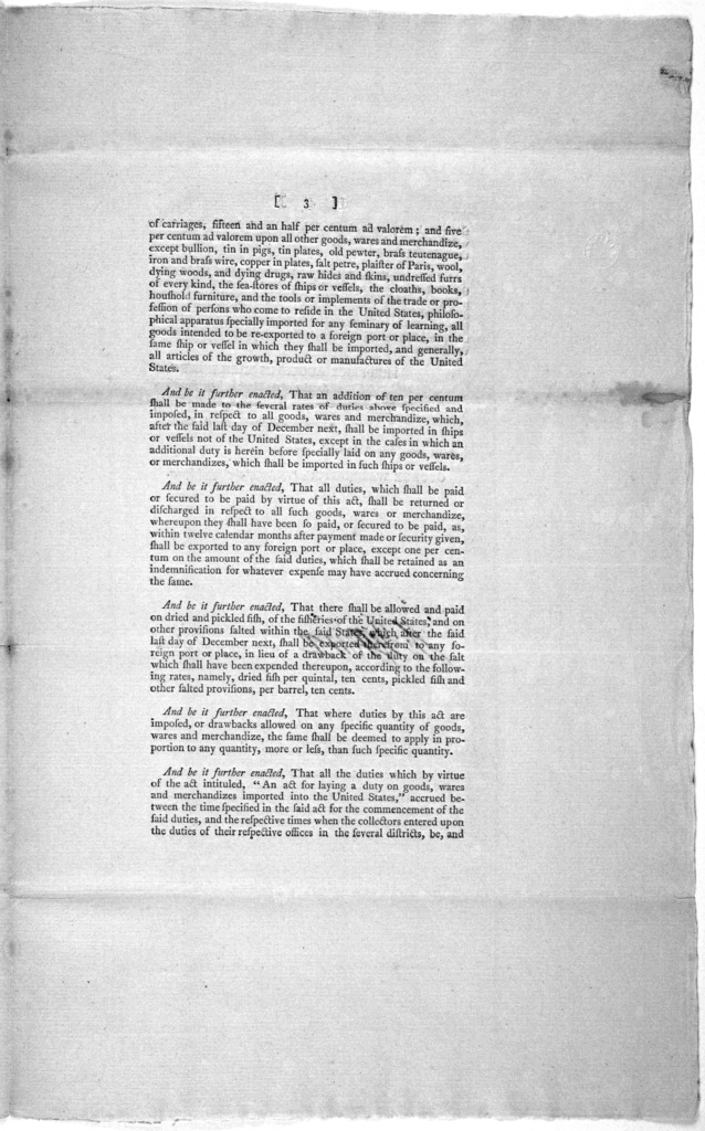 ... An act making further provision for the payment of the debts of the United States. [New York: Printed by Francis Childs and John Swaine, 1790].
