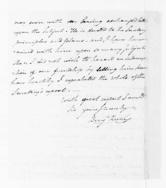Benjamin Rush to James Madison, May 4, 1790.