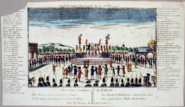 Confederation Nationale du 14 Juillet 1790 Aux deux soutiens de la liberté.