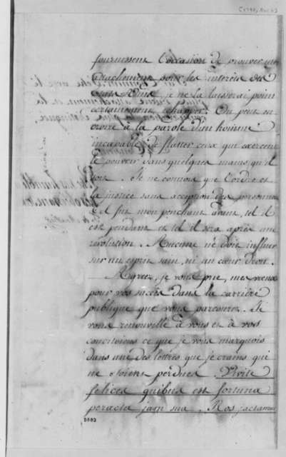 Count de Moustier to Thomas Jefferson, November 6, 1790, in French
