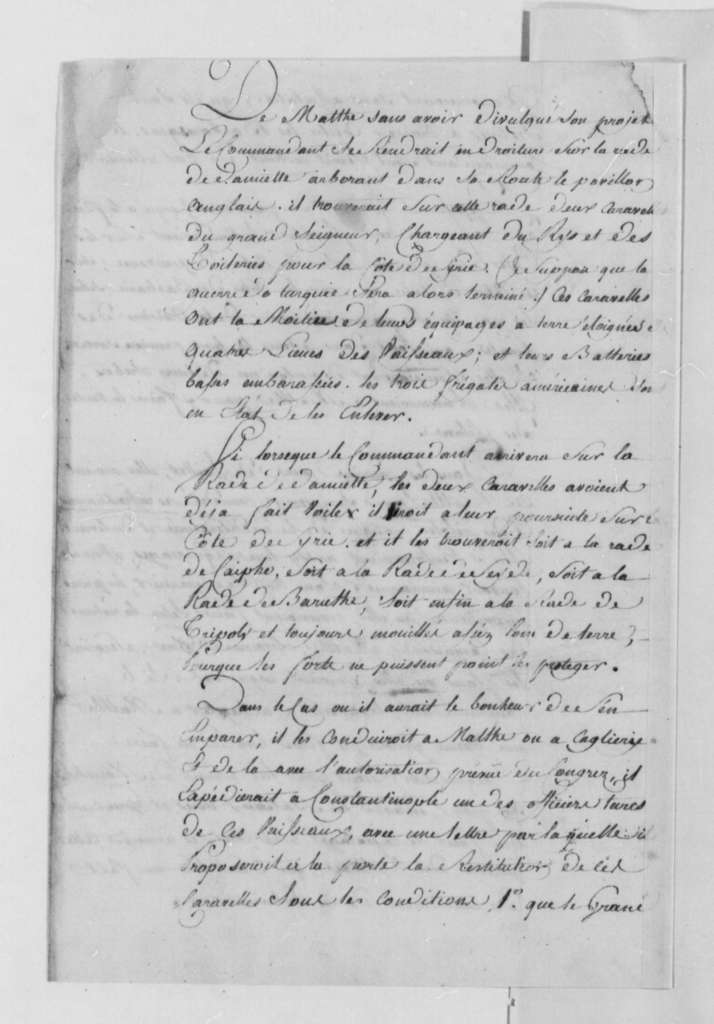 Count de Volney to Thomas Jefferson, July 12, 1790, in French