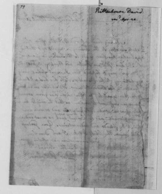 David Rittenhouse to Thomas Jefferson, April 20, 1790