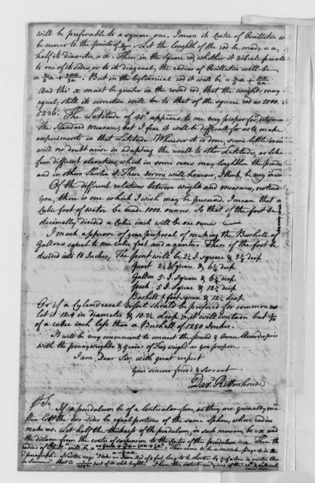 David Rittenhouse to Thomas Jefferson, June 21, 1790