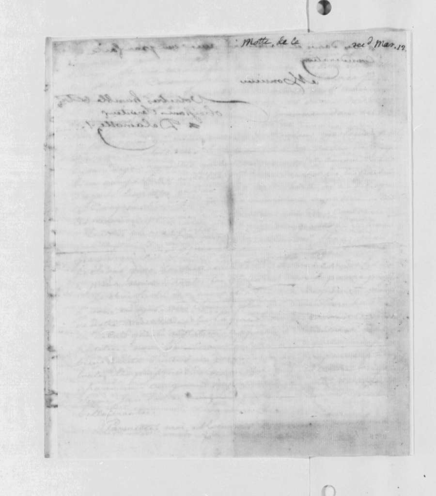 Delamotte to Thomas Jefferson, October 28, 1790, in French
