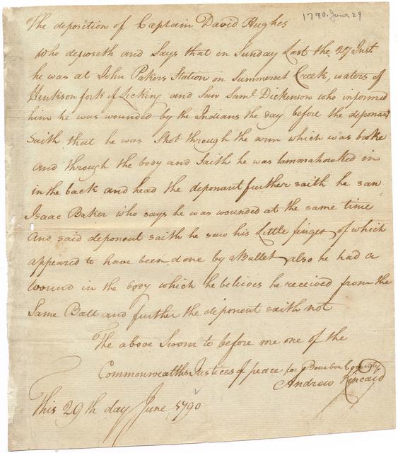 Deposition of Captain David Hughes