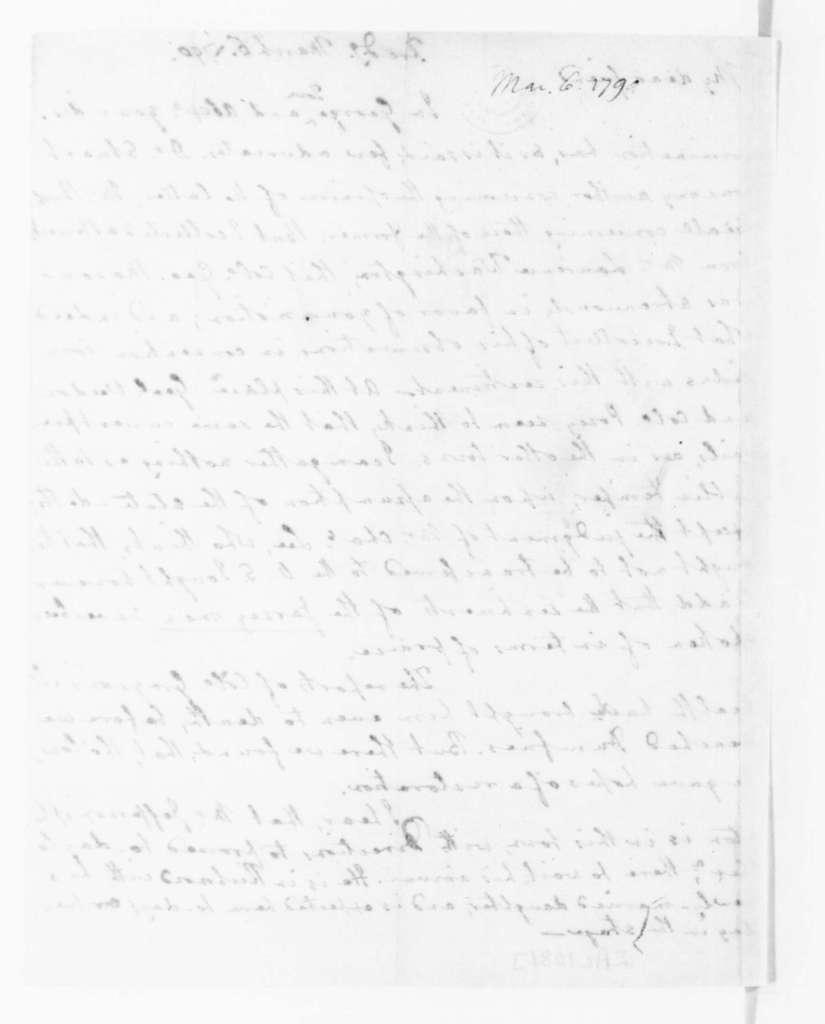 Edmund Randolph to James Madison, March 6, 1790.