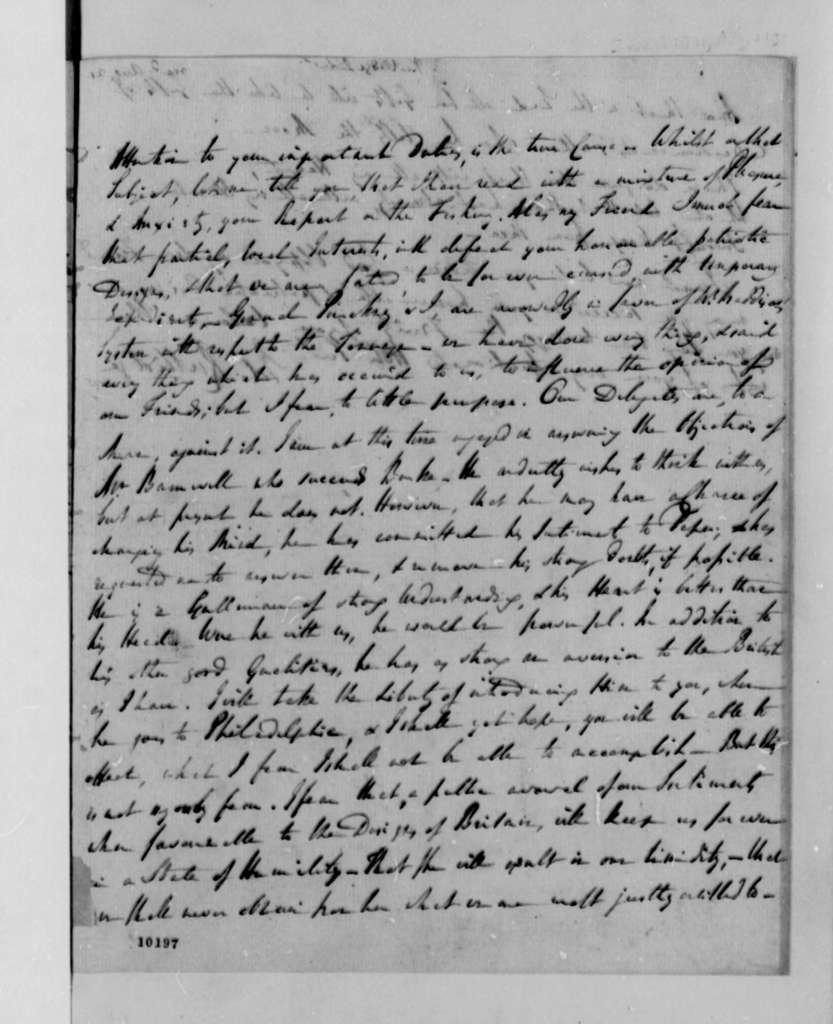 Edward Rutledge to Thomas Jefferson, 1790