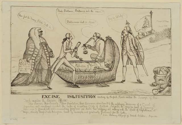 Excise inquisition erecting by English slaves under the scourge of their task-masters the excise officers