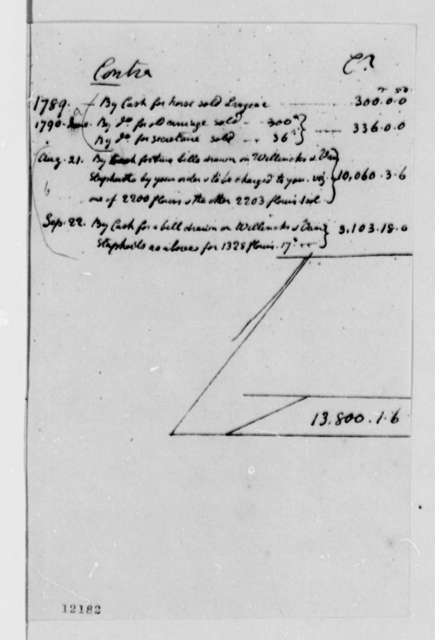 Ferdinand Grand, et al to William Short, December 30, 1790, Account, in French