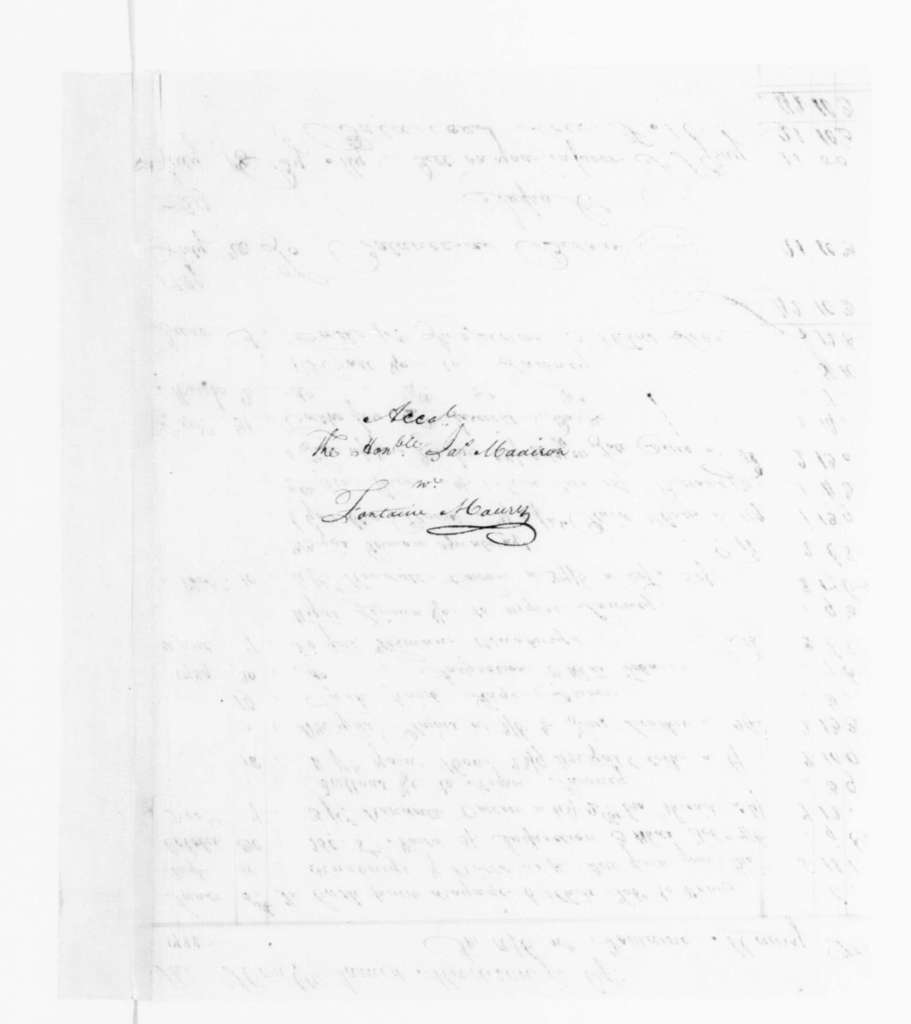 Fontaine Maury to James Madison, July 20, 1790. with Tobacco Account 1788-89.