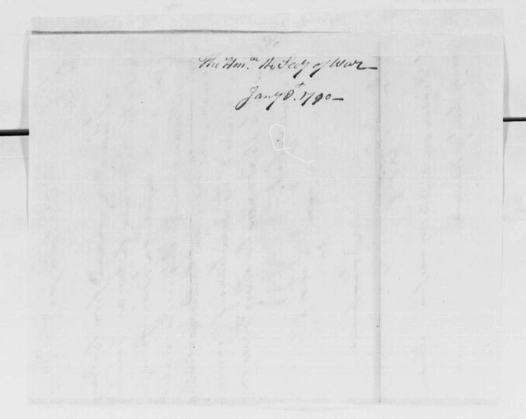 George Washington Papers, Series 4, General Correspondence: David Humphreys to Henry Knox, January 8, 1790