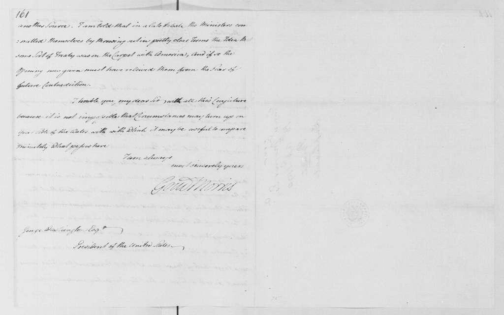 George Washington Papers, Series 4, General Correspondence: Gouverneur Morris to Francis G. Osborne, Duke of Leeds, April 17, 1790