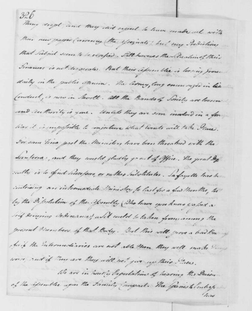 George Washington Papers, Series 4, General Correspondence: Gouverneur Morris to George Washington, August 30, 1790