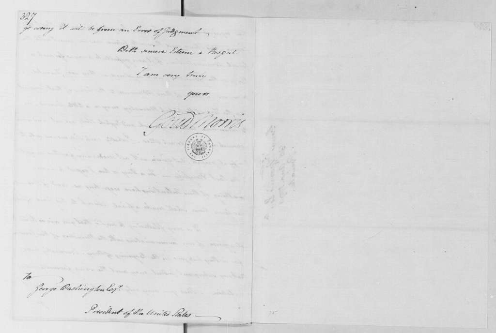George Washington Papers, Series 4, General Correspondence: Gouverneur Morris to George Washington, August 30, 1790