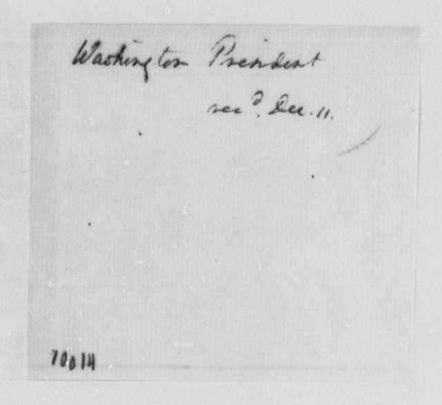 George Washington to Thomas Jefferson, December 11, 1790