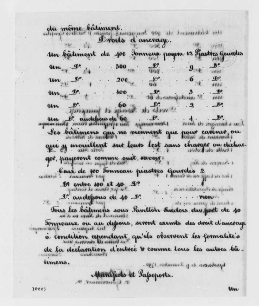 Governor and Council of Island of St. Barthelemy, December 9, 1790, Report in French, with Copy