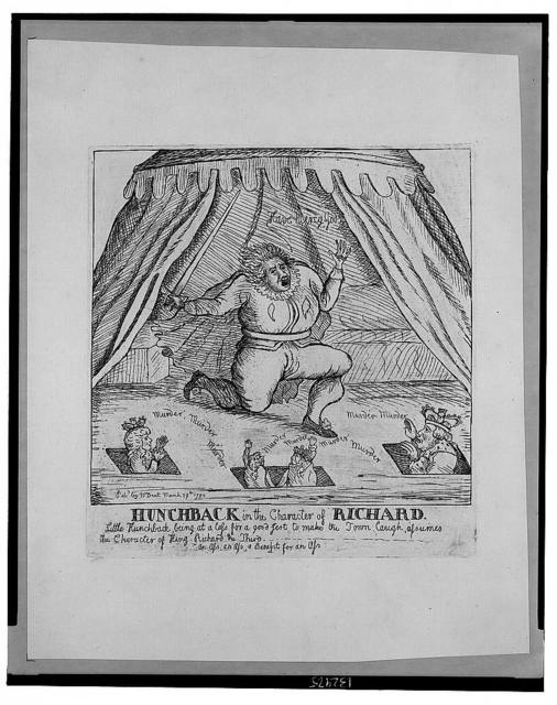 Hunchback in the character of Richard