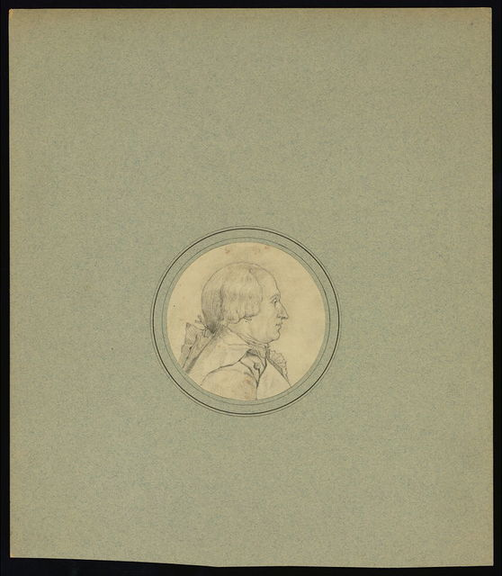 [J.A.C. Charles, French balloonist, head-and-shoulders oval profile portrait]