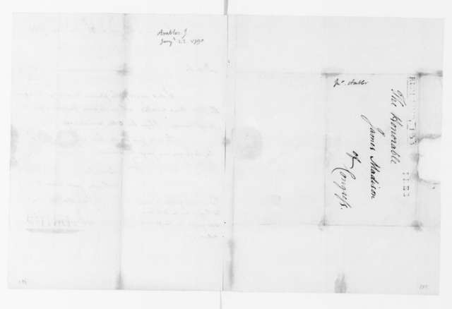 Jacquelin Ambler to James Madison, January 22, 1790.