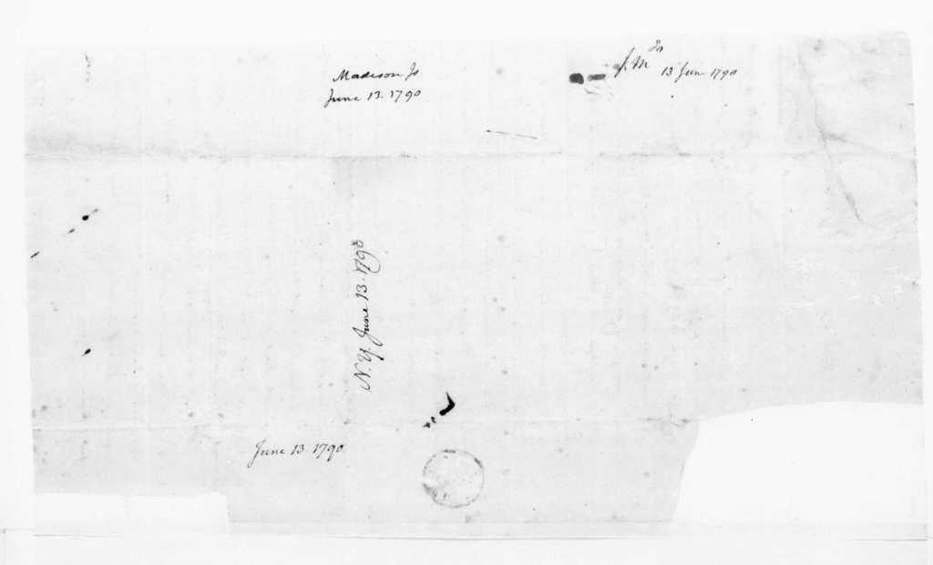James Madison to James Madison Sr., June 13, 1790.
