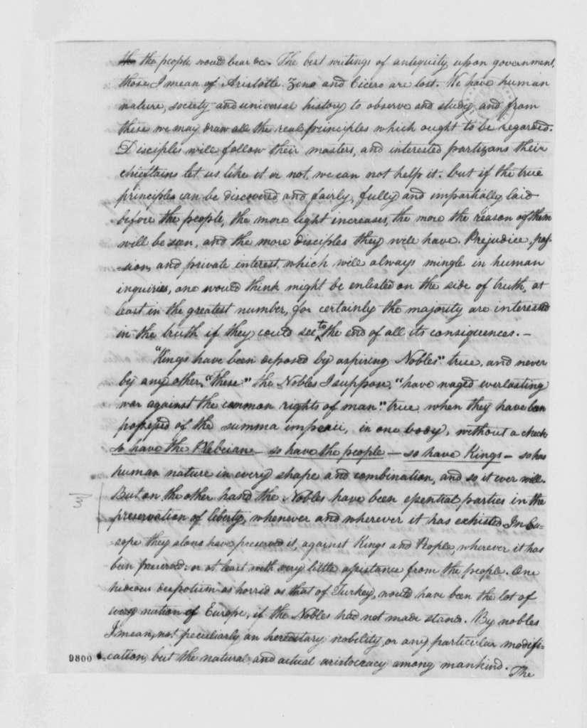 John Adams to Samuel Adams, 1790