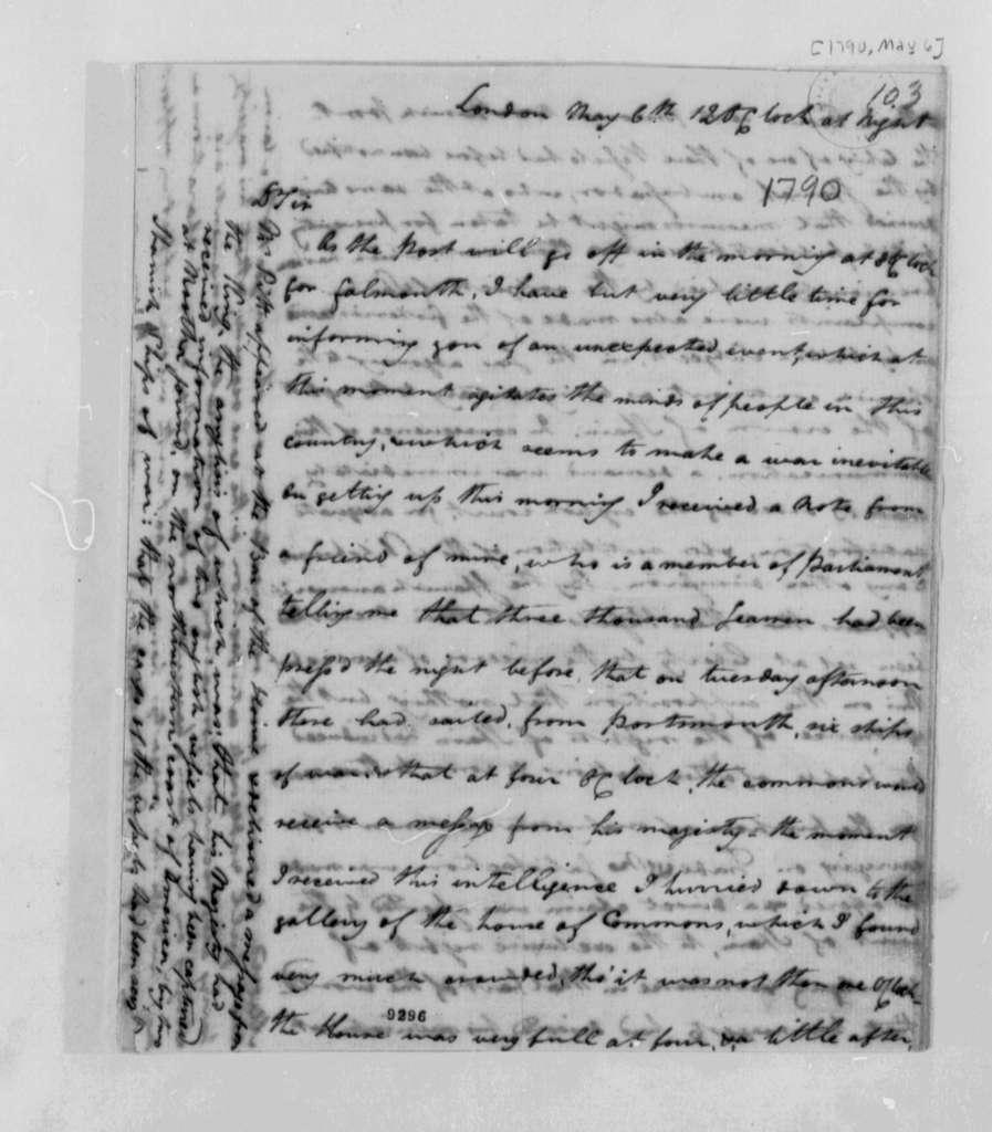 John Rutledge to Thomas Jefferson, May 6, 1790