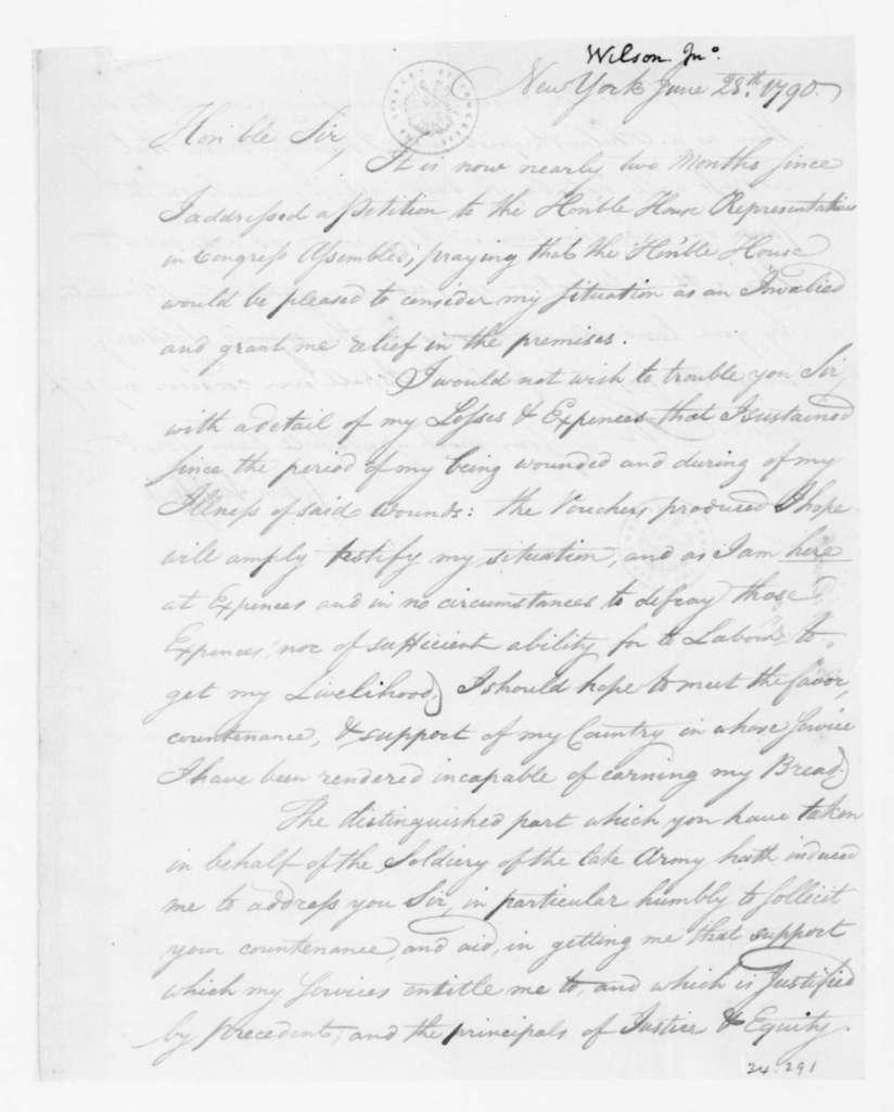 John Wilson to James Madison, June 28, 1790.
