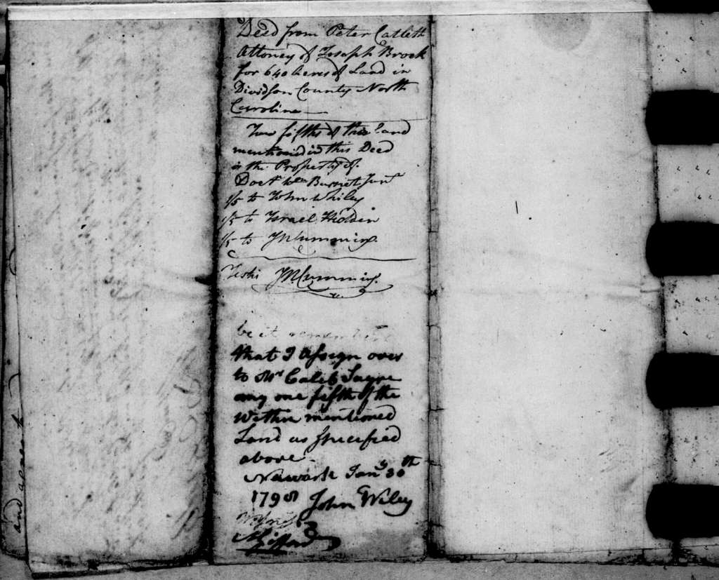 Joseph Brock to John N. Cummings, July 26, 1790