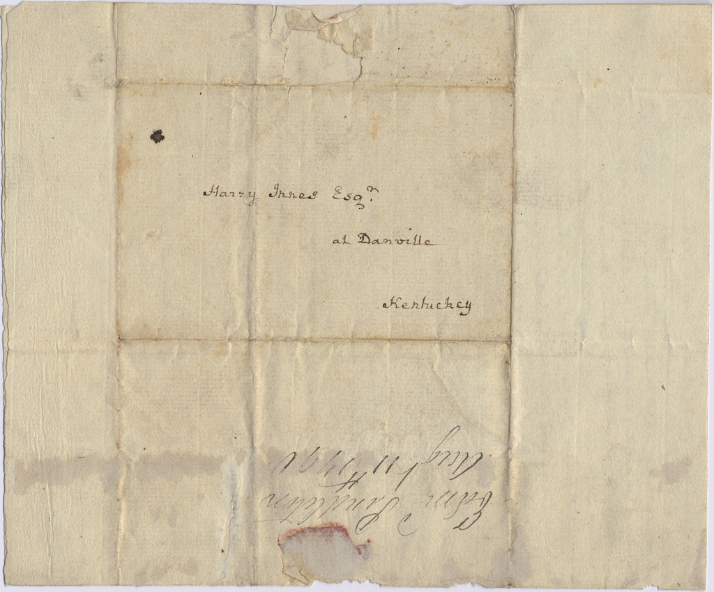 Letter from Edmund Pendleton to Harry Innes