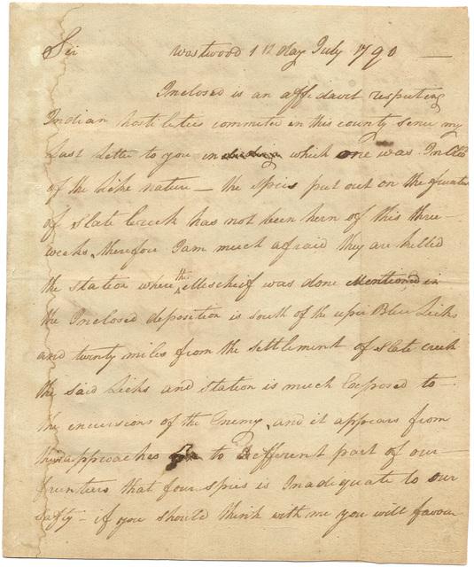 Letter from John Edward to Harry Innes