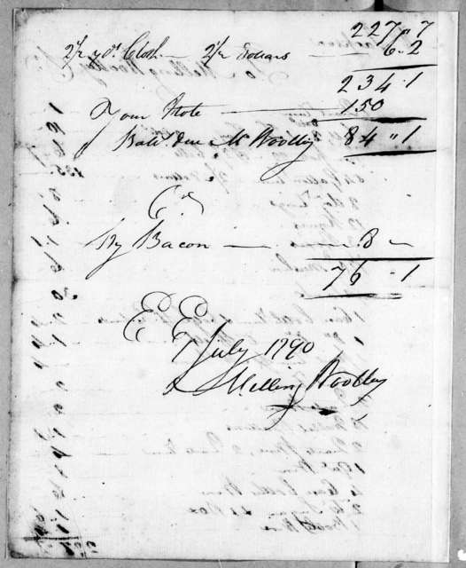 Melling Woolley to Andrew Jackson, July 1, 1790