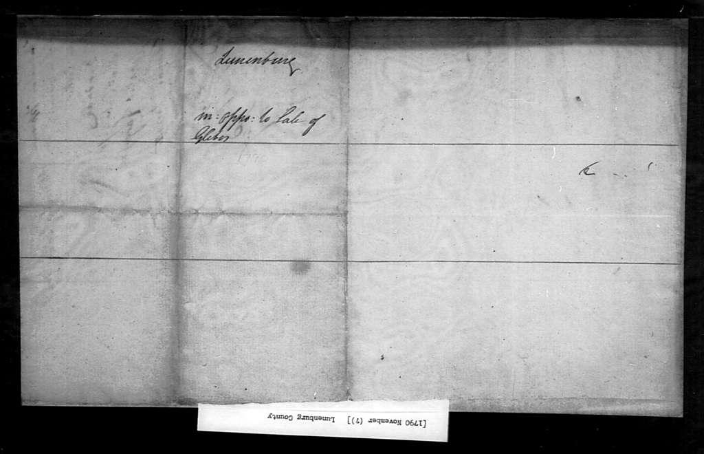 November, 1790, Lunenburg, Against sale of glebes.