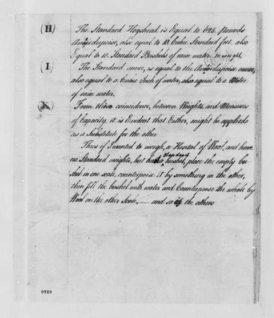 Philip Schuyler to Thomas Jefferson, August 22, 1790, with Table