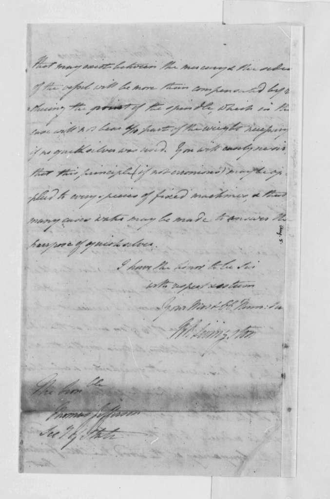 Robert R. Livingston to Thomas Jefferson, August 1, 1790