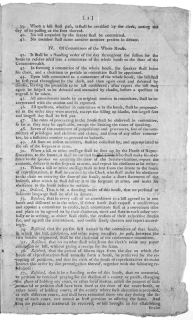 Rules and regulations of the House of Representatives. [Frankfort? Kentucky 179-?].