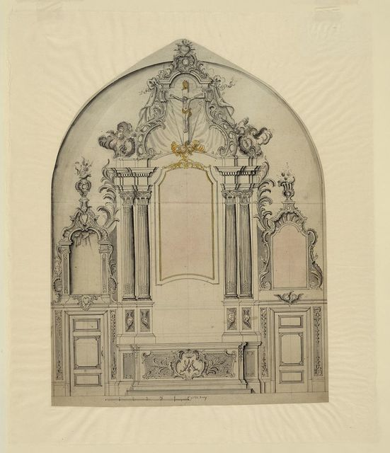 [Study for an altar. Elevation]