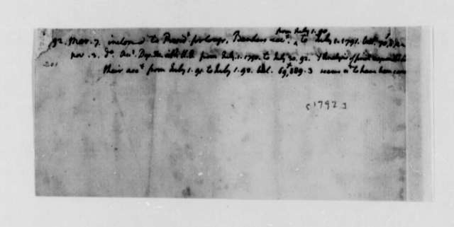Thomas Jefferson, 1790-1792, List of Draughts of State Department
